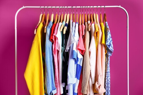 declutter clothing rail
