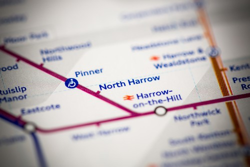 Harrow Tube Map